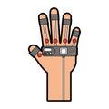 Glove video game control