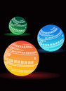 Glow ball light background Stock Images