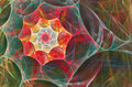 Glow Fractal With A Red Spiral...