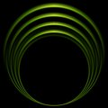 Glow green curve logo on black background Royalty Free Stock Photo