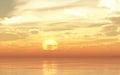 Glow orange sunset or sunrise sea waves bright colorful background Royalty Free Stock Photo