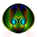 Glowing alien happy face Royalty Free Stock Photo