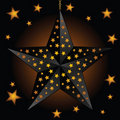 Glowing black star lantern Royalty Free Stock Images
