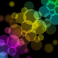 Glowing bokeh colorful background Royalty Free Stock Image