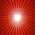 Glowing Bright Heart Background Stock Images