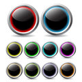 Glowing buttons Royalty Free Stock Photo