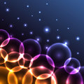 Glowing circles background Stock Image