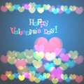 Glowing color hearts background Stock Photography