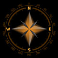 Glowing compass dial Royalty Free Stock Photo