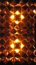 glowing diamond pattern