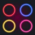 Glowing digital circles