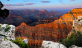 Glowing Dusk of Grand Canyon Royalty Free Stock Photo