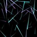 Fast neon light movement effect