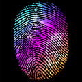 Glowing Finger Print. Abstract background. EPS 10 Royalty Free Stock Image