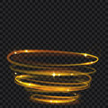 Glowing fire rings with glitter Royalty Free Stock Photo
