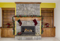 Glowing Fireplace for the Holidays Royalty Free Stock Photo