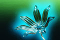 Glowing glass flower Stock Image
