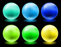Glowing glass spheres Royalty Free Stock Photo