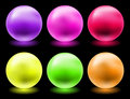 Glowing glass spheres Stock Images