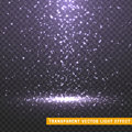 Glowing glitter light effects realistic. Christmas decoration design element.
