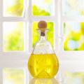 Glowing golden olive oil Stock Photo