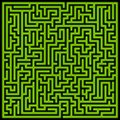 Glowing green maze illustration of a Royalty Free Stock Photo