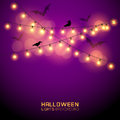 Glowing halloween lights warm vector illustration Royalty Free Stock Photos