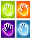 Glowing Handprint Aura Backgrounds