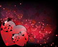 Glowing Hearts with floral elements Royalty Free Stock Photos
