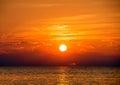 Glowing Lake Michigan sunset Royalty Free Stock Photo
