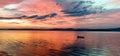 Glowing lake sunrise Royalty Free Stock Photo