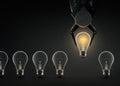 Glowing Light Bulb Royalty Free Stock Photo