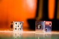 Glowing Metallic Dice Royalty Free Stock Photo