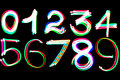 Glowing numbers Stock Photos