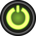 Glowing open button Stock Image