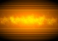 Glowing orange tech background with low poly Royalty Free Stock Photo