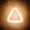 Glowing orange triangle