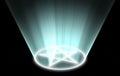 Glowing pentacle magic symbol magical seal Royalty Free Stock Photo