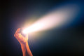 Glowing pocket torch light Royalty Free Stock Photo