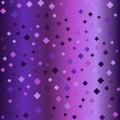 Glowing purple diamond background. Seamless vector pattern Royalty Free Stock Photo