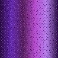 Glowing purple diamond pattern. Seamless vector background Royalty Free Stock Photo