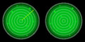 Glowing radar screen with luminous targets vector illustration Royalty Free Stock Image