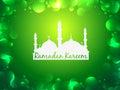 Glowing ramadan kareem background festival Royalty Free Stock Image