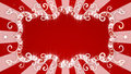 Glowing red banner on background with rays Royalty Free Stock Photo