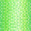 Glowing shamrock pattern. Seamless vector clover background
