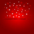 Glowing shiny christmas background with snowflakes vector Royalty Free Stock Photography