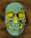 Glowing Skull Background Stock Image