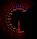 Glowing Speedometer Royalty Free Stock Photo