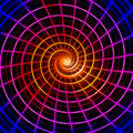 Glowing spiral Royalty Free Stock Image