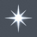 Glowing Star on Transparent Background Vector Royalty Free Stock Photo